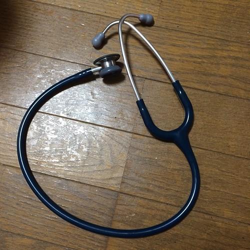 聴診器、修理完了。チェストピースの金属部分以外は全部自分で交換修理できます。