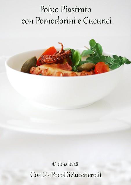 Polpo con pomodorini e cucunci - octopus salad
