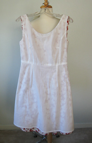 redwh dress inside