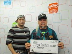 Hector Rodriguez - $5,000 - Lucky For Life - Pocatello - K & B Kwik