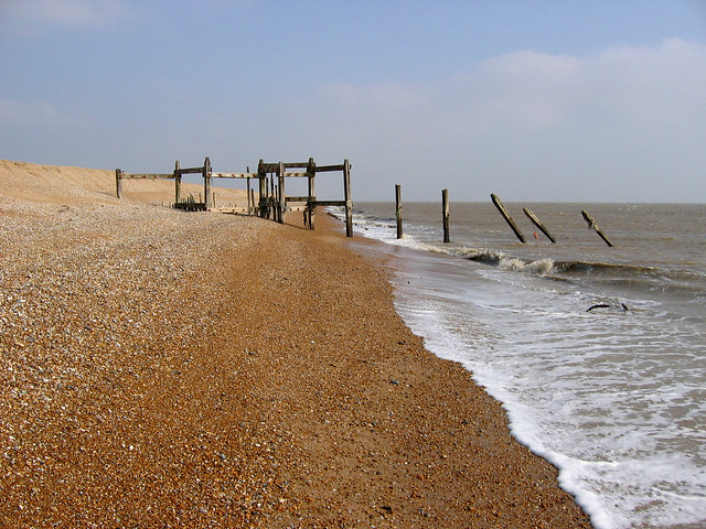 The beach in Lydd Ranges
