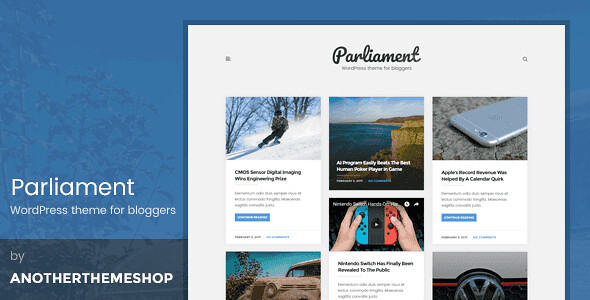 The Parliament WordPress Theme free download