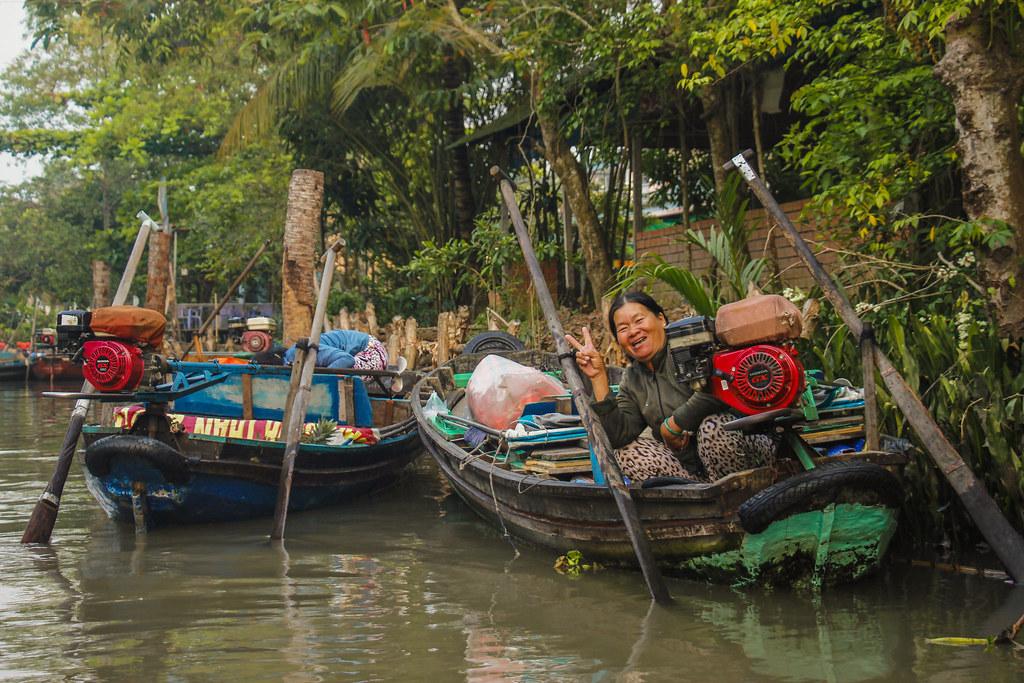 de lokale vietnamesere i Mekongdeltaet