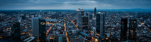 Skyline Panorama Frankfurt from Toni Hoffmann