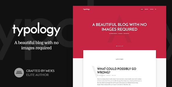 Typology v1.2 - Text Based Minimal WordPress Blog Theme
