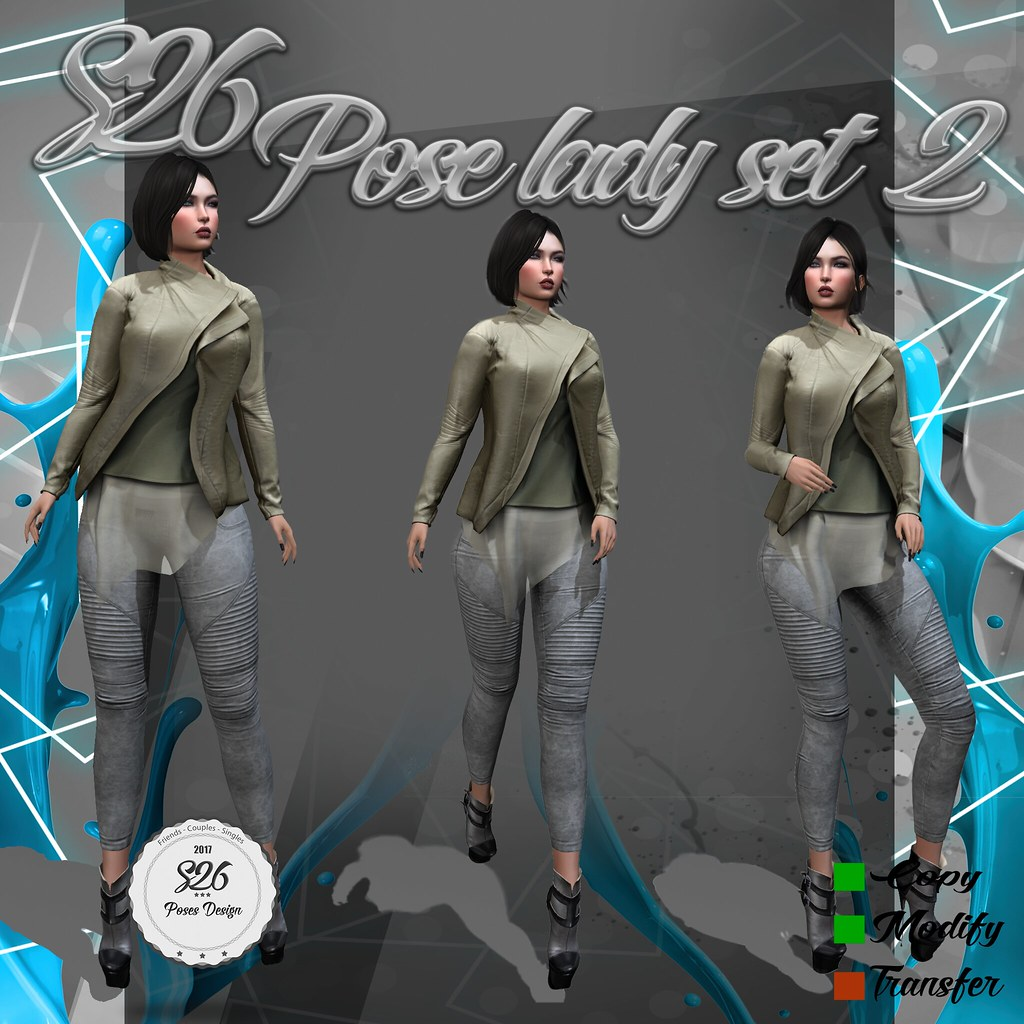 **New Pose Set Lady 2** - SecondLifeHub.com
