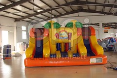 Island style inflatable water slide-03
