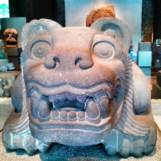 At the Anthropology Museum of Mexico City