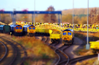 Tilt Shift Effect Wellingborough GBRf Yard