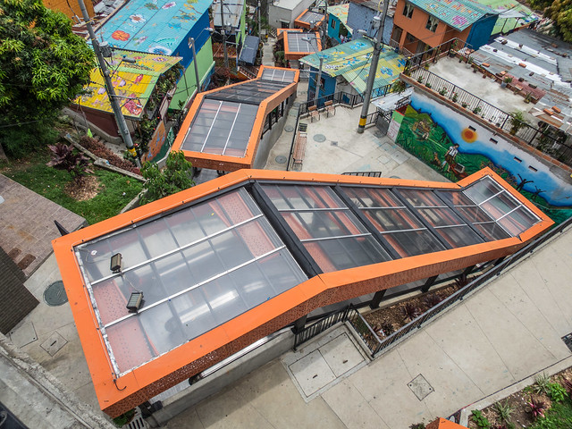 Outdoor escalators in Comuna 13