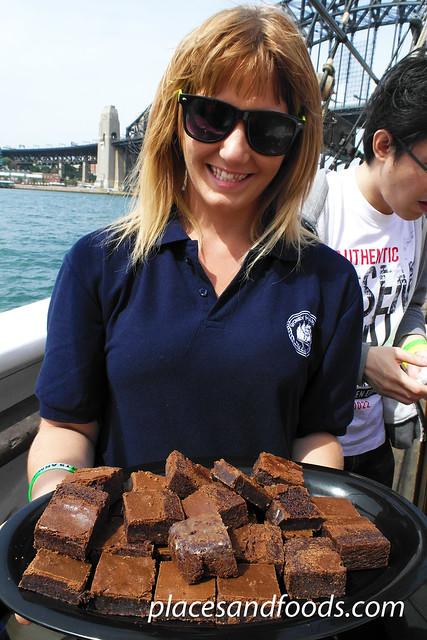 sydney tall ship dessert