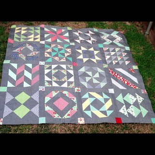 Layer Cake Sampler quilt top