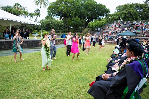 "<p>William S. Richardson School of Law graduates dance to Hanohano Manoa in honor of the Manoa campus and everyone who supported them through their journey. The ceremony was held at the University of Hawaii at Manoa's Andrews Amphitheater on May 18, 2014.For more photos go to <a href=""https://www.law.hawaii.edu/photos/law-school-graduation-ceremony-may-2014"" rel=""nofollow"">www.law.hawaii.edu/photos/law-school-graduation-ceremony-...</a></p>"