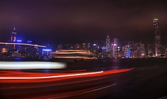 Light painting in Hong Kong