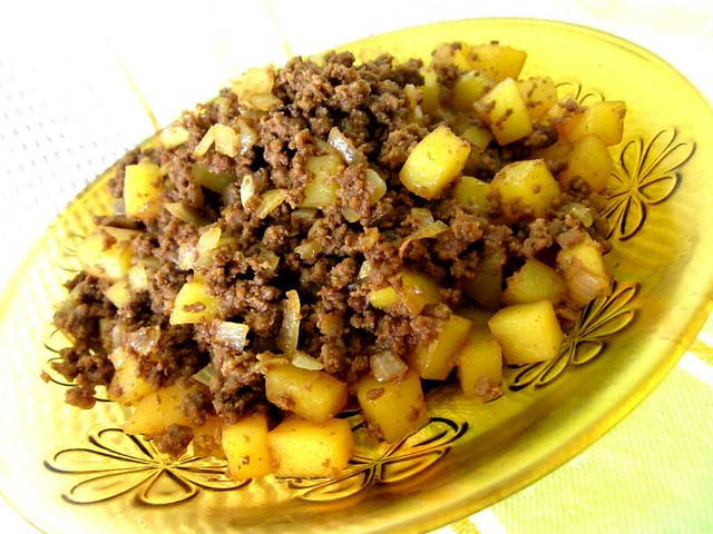 Minced meat and potatoes