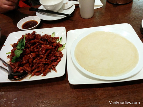 Shredded Pork with Hoi Sin Sauce + Pancakes