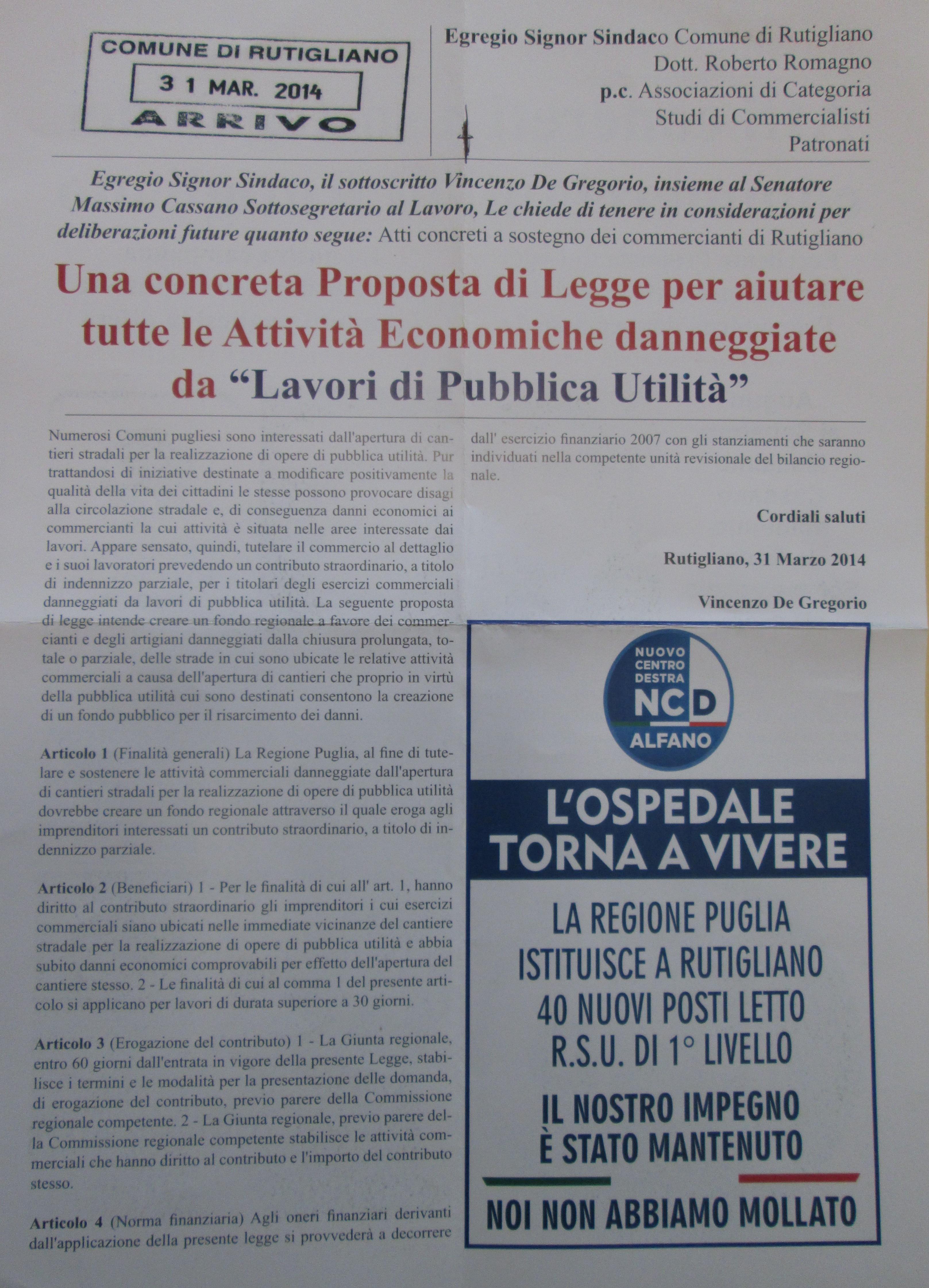 proposta legge regionale