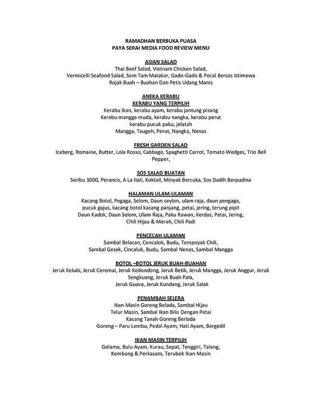 Menu - Ramadhan Food Review 2014 - Hilton Petaling Jaya-page-001
