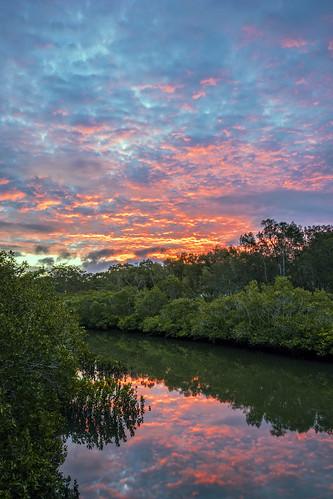 sunset reflection clouds river brisbane cloudsstormssunsetssunrises