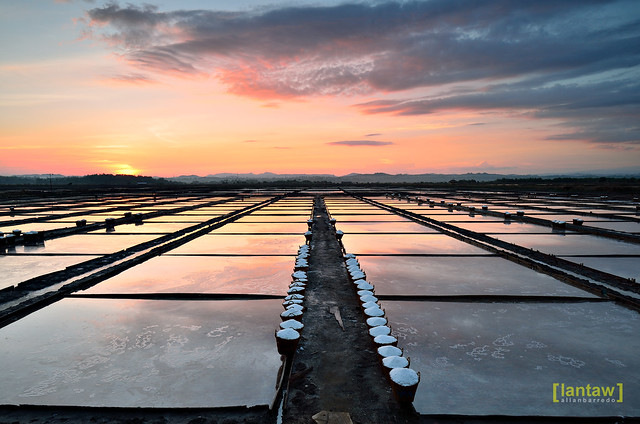 Dawn in Salt Field