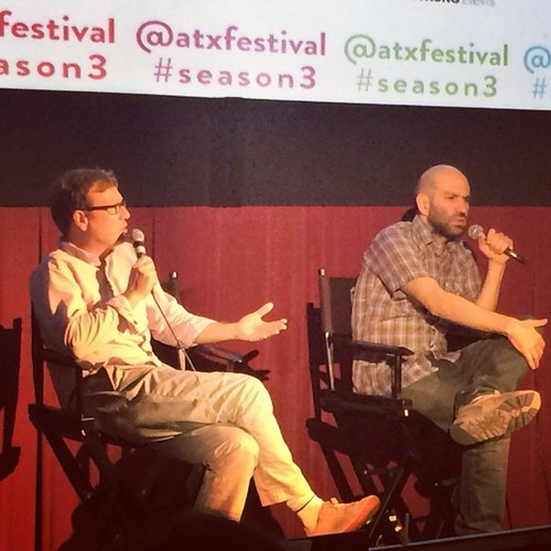"Got to meet Andy Daly and Andy Blitz of ""Review\"" today so that was pretty cool. #atxfestival"