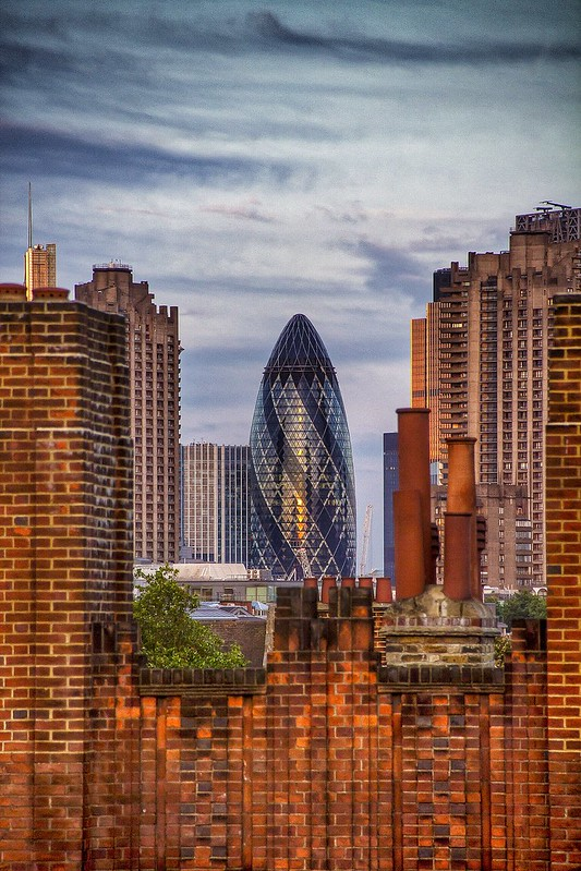 The London Gherkin & The Chimney Pots ...great name for a band
