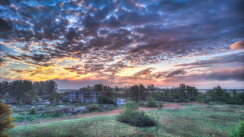 morning sunrise landscape hdr