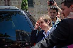 Solo quería una selfie con Carmen Aristegui, acabó con beso en la mejilla ①