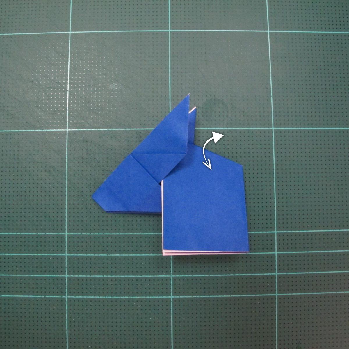 วิธีการพับกระดาษเป็นรูปกระต่าย แบบของเอ็ดวิน คอรี่ (Origami Rabbit)  014