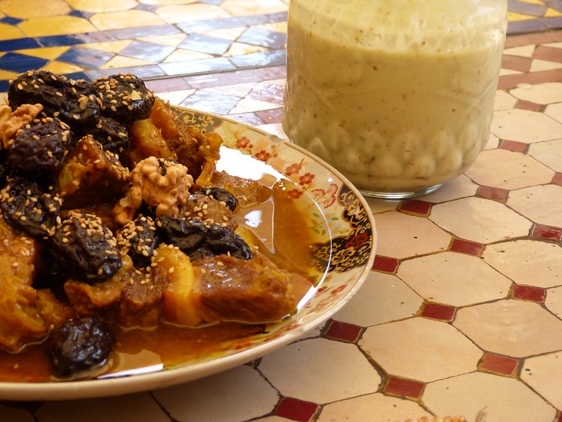 Beef stew with prunes and dates, Morocco