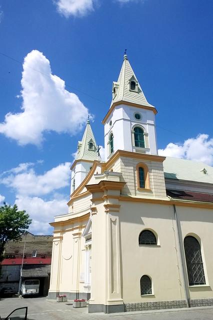 view on a church. Lviv, Ukraine