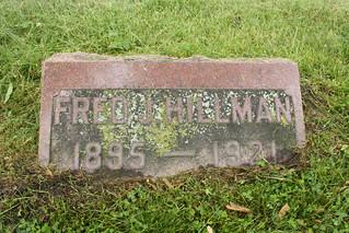 6-12-2014 Fred Hillman grave marker