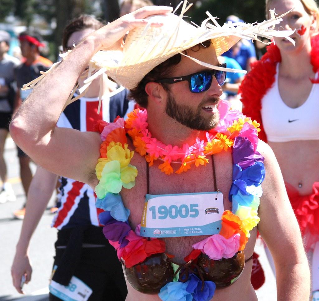ALOHA HANDSOME Bay to Breakers Race (safe photo)