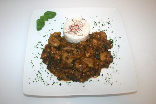 42 - Schweinefleisch-Linsen-Curry - Serviert / Pork lentil curry - Served