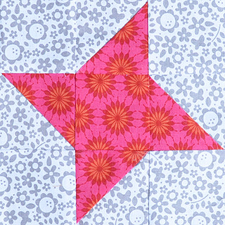 "6,5"" friendship star block for Marika (Live, Laugh, Love… Sew)"