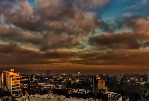 city argentina fog clouds buildings dawn edificios buenosaires ciudad amanecer nubes niebla