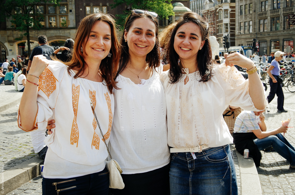 Universal Day of the Romanian Blouse (June 24th), Amsterdam