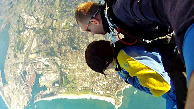 Looks so peaceful, but this is the point of jumping off the plane