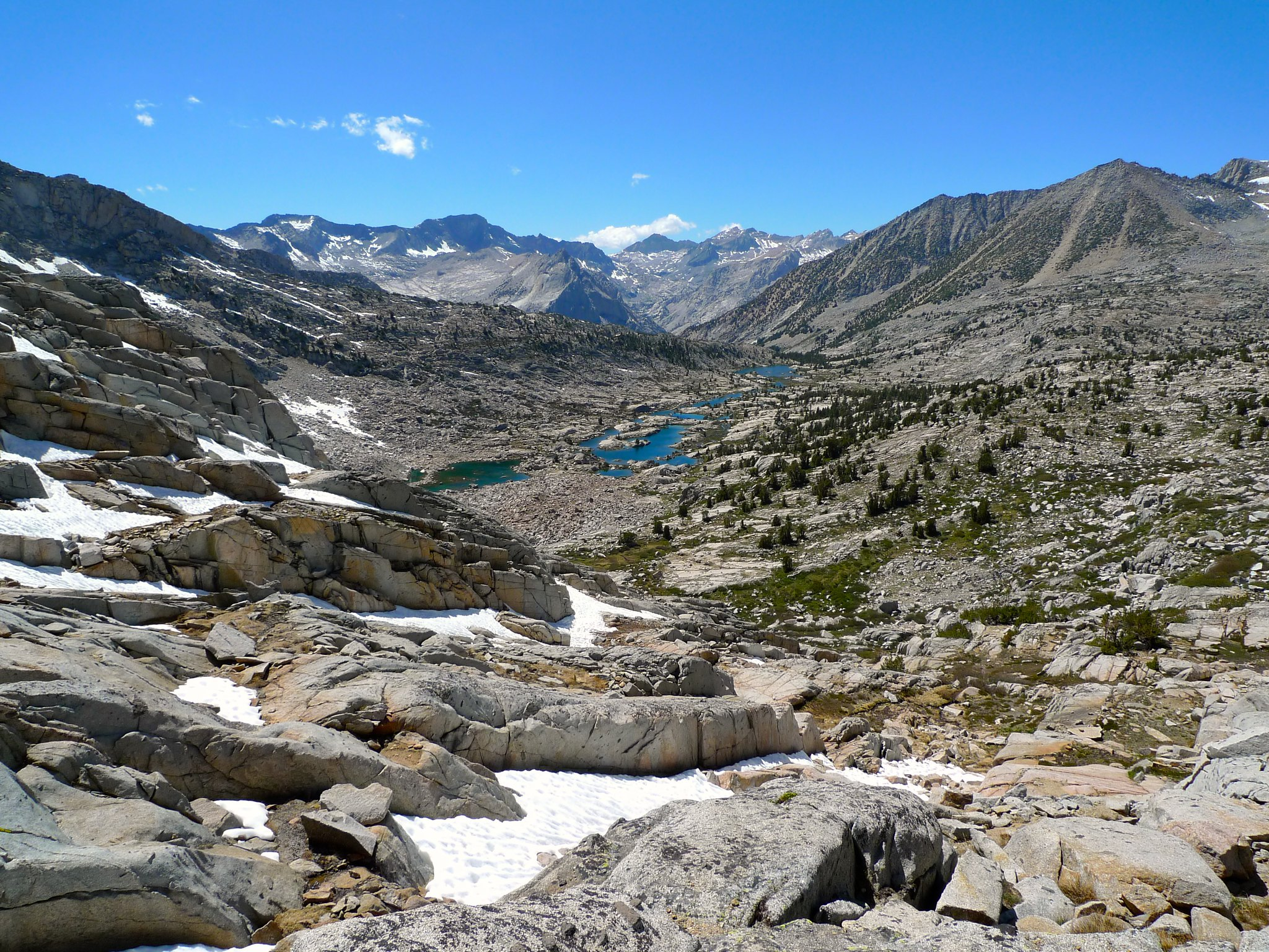 Lower Dusy Basin from Knapsack Pass