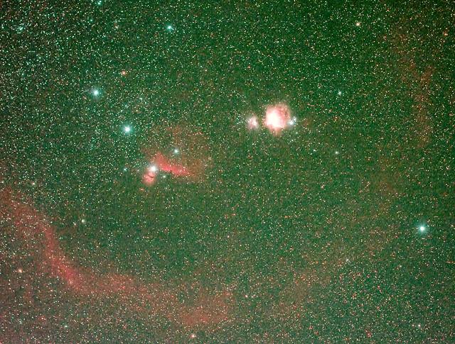 Orion widefield with Barnard's loop