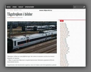 Train-strike in pictures- www.riktpunkt.nu