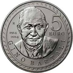 San Marino Gino Bartali coin reverse