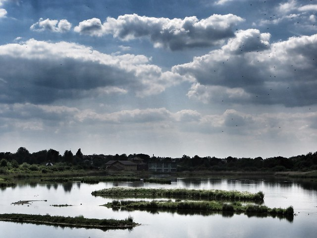 Clouds over the London Wetlands Centre