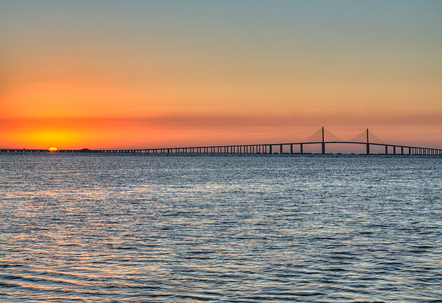 Sunrise over the skyway bridge fishing pier flickr for Skyway bridge fishing