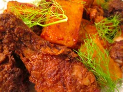 THE ULTIMATE! FRIED CHICKEN & ANGRY POTATOES (PAPAS BRAVAS)   @ Home by Hans susser