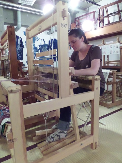 Me on the Weaving Loom