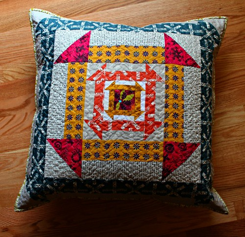 Nested Churn Dash pillow