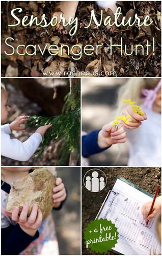 Sensory Nature Scavenger Hunt from Racheous