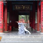 Shiifu Kanishka Sharma demonstrates at The Temple In China