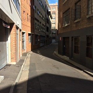 Light and shadow play on lanes in Surry Hills 2
